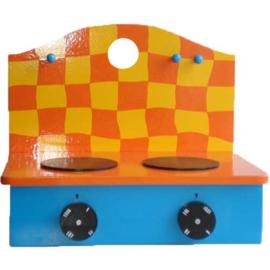 Houten tafelfornuis Oranje-Geel