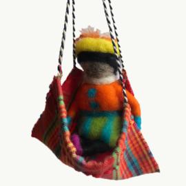 Pietje in hangmat wol