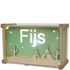 Nachtlamp Tipi tent (de luxe) met naam