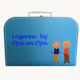 Koffertje opa en opa logeerkoffertje