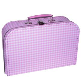 Kinderkoffertje Ruit roze