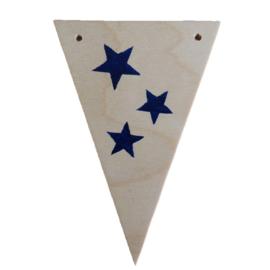 Naamslinger houten vlag sterren