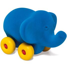 Rubbabu olifant op wielen blauw