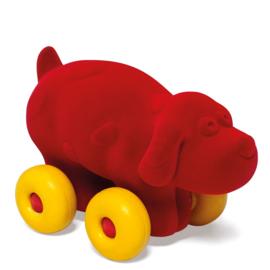 Rubbabu hond op wielen rood