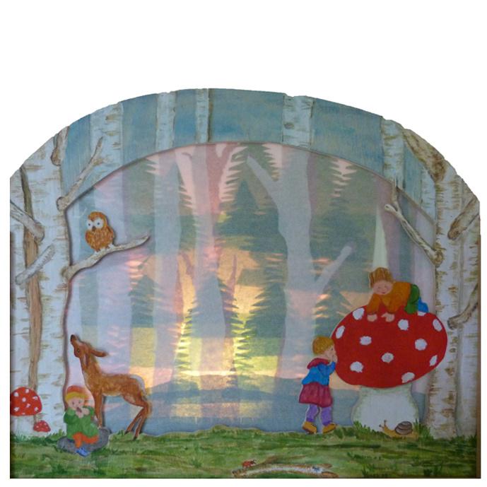 Silhouetlamp Hertje in het bos