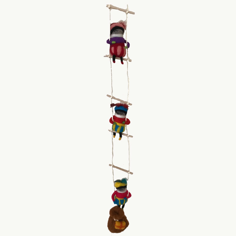 Ladder roetveegpietjes wol.