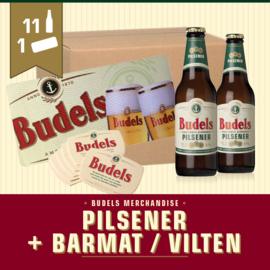 11x PILSENER 30CL + 1x BARMAT / BIERVILTEN