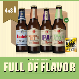 BUDELS FULL OF FLAVOR BOX - 4X3 30CL