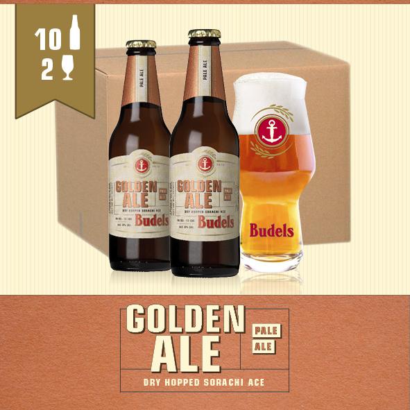 BUDELS GOLDEN ALE - 10X30CL + 2GL.