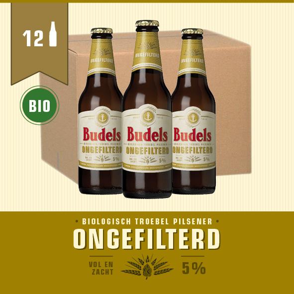 BUDELS ONGEFILTERD BIO - BOX - 12X30CL