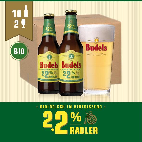 BUDELS 2.2% RADLER BIO - 10X30CL + 2GL.