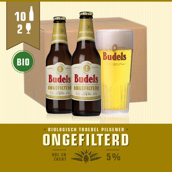 BUDELS ONGEFILTERD BIO - 10X30CL + 2GL.