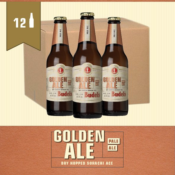 BUDELS GOLDEN ALE - BOX - 12X30CL
