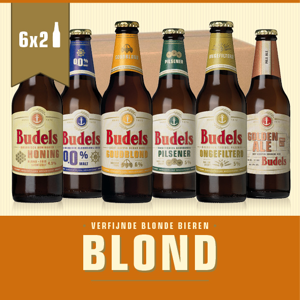 BUDELS BLOND BOX - 6X2 30CL