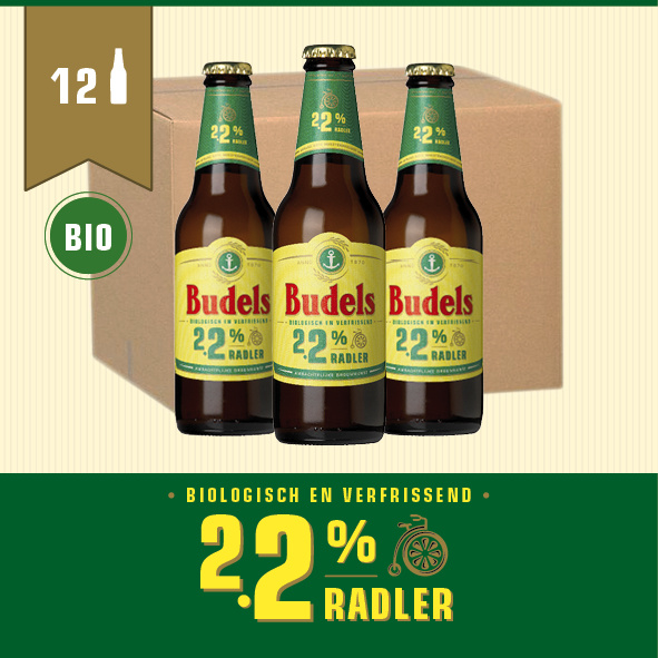 BUDELS 2.2% RADLER BIO - BOX - 12X30CL