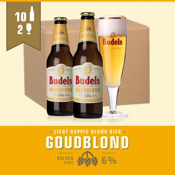 BUDELS GOUDBLOND - 10X30CL + 2 GL.