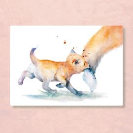 Postkaart baby vos, Zintenz