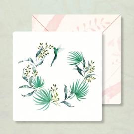 Kaart Kolibrie in krans, Zintenz
