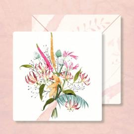 Kaart Boeket bloemen, Zintenz