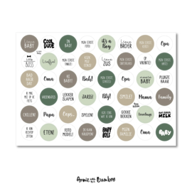 Stickervel 'Baby groen' - per 5 stuks