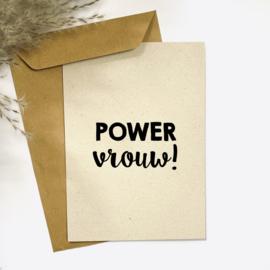 Ansichtkaarten 'Powervrouw!' - per 5 stuks