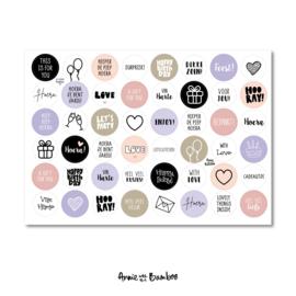 Stickervel 'Cadeaustickers 04' - per 5 stuks
