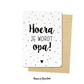 Ansichtkaarten 'Hoera je wordt opa!' - per 5 stuks