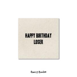 Minikaartjes 'Happy birthday loser' - per 5 stuks
