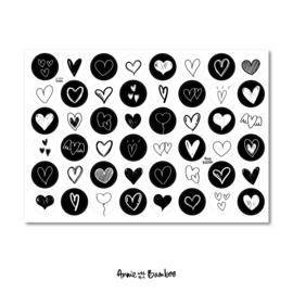 Stickervel 'Hartjes (nieuw)' - per 5 stuks