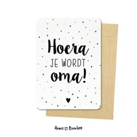 Ansichtkaarten 'Hoera je wordt oma!' - per 5 stuks