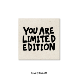 Minikaartjes 'You are limited edition' - per 5 stuks