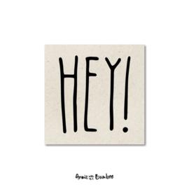 Minikaartjes 'Hey' - per 5 stuks