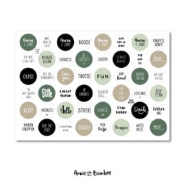 Stickervel 'Kind 1-4 jaar groen' - per 5 stuks