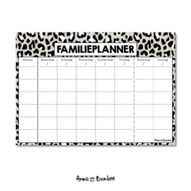 Familieplanner A4 | Luipaard - per 5 stuks