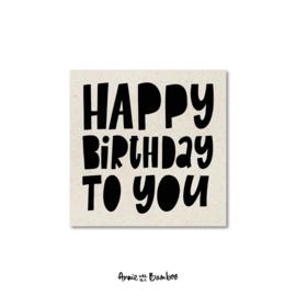 Minikaartjes 'Happy birthday to you' - per 5 stuks