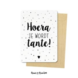 Ansichtkaarten 'Hoera je wordt tante!' - per 5 stuks