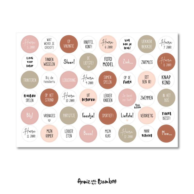 Stickervel 'Kind 5-12 jaar roze' - per 5 stuks