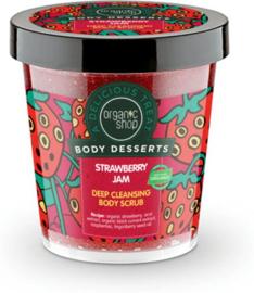 Organic Shop Body Desserts Strawberry Jam  body scrub