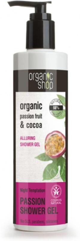 Organic Shop douchegel Passievrucht & Cacao