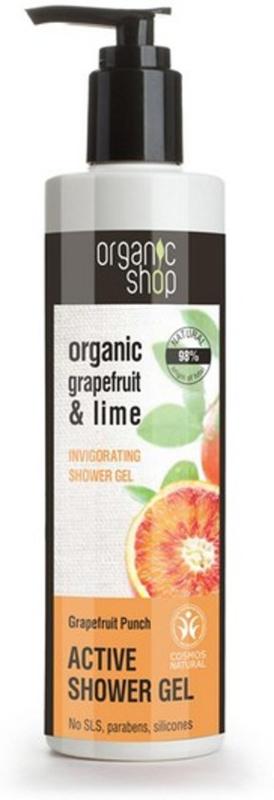 Organic Shop douchegel Grapefruit & Lime