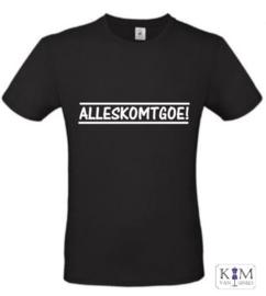 Heren T-shirt 'alleskomtgoe'