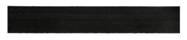 Biais elastisch glans 20mm zwart