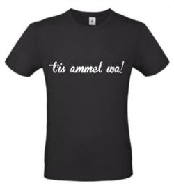 Heren T-shirt  'tis ammel wa!'