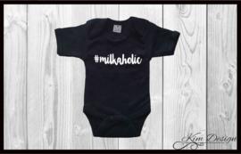 Romper '#milkaholic'