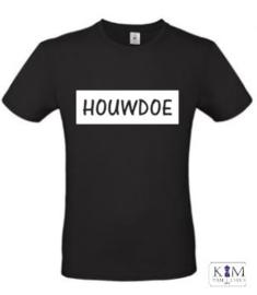 Heren T-shirt 'houwdoe'