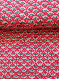 Cotton jersey rood waaier