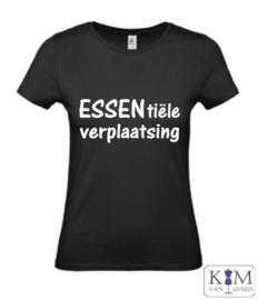 Dames T-shirt 'ESSENtiële verplaatsing'