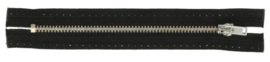 Rits 14cm nikkel zwart