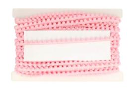 Bolletjesband roze 10mm