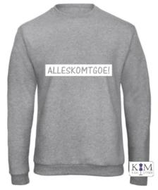 Dames sweater 'ALLESkomtgoe!'